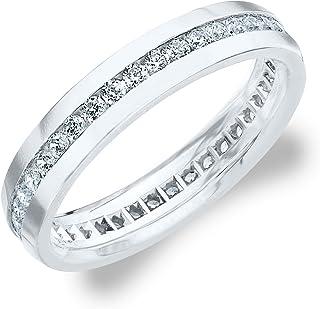1.0 CTTW Men's Eternity Ring in 10K Gold, Stunning Diamond Ring for Men
