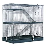 Pawhut 3-Level Metal Hamster Cage Small Animal Rat Rodent Pet Hutch Ferret Chinchilla
