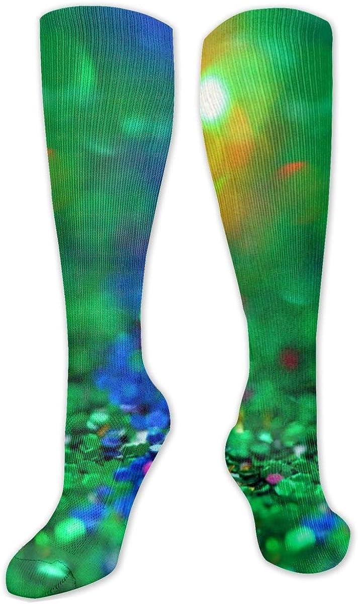 Multi-Color-Bokeh-Glitter Knee High Socks Leg Warmer Dresses Long Boot Stockings For Womens Cosplay Daily Wear