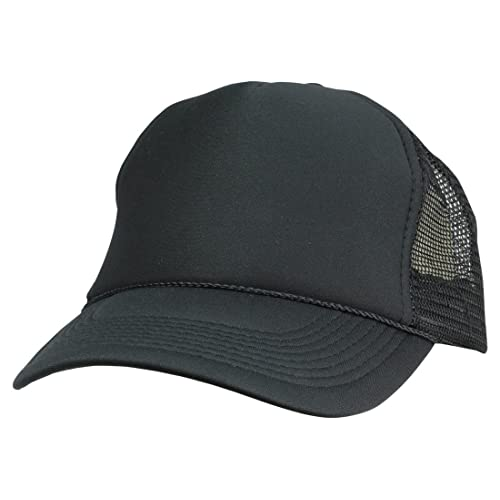 Trucker Cap Mesh Hat with Solid Colors and Adjustable Strap and Small Braid a624dea843e9