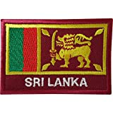 Aufnäher mit Sri Lanka-Flagge, zum Aufnähen, auf Kleidung, Jacke, Jeans, Sri Lanka, bestickt