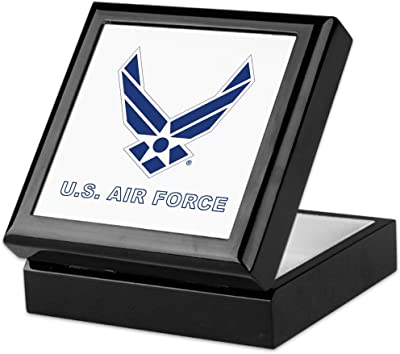CafePress - U.S. Air Force - Keepsake Box, Finished Hardwood Jewelry Box, Velvet Lined