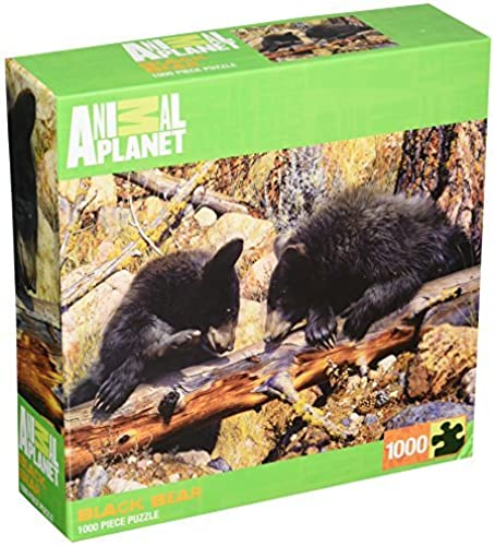 Masterpieces schwarz Bear Animal Planet Jigsaw Puzzle (1000-Piece) by MasterPieces