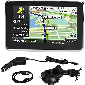 Qiilu - Navegador GPS de 5 pulgadas, sistema de pantalla táctil ...