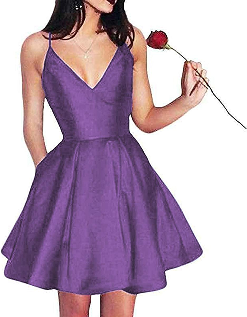 LL Bridal Women's Elegant V 1着でも送料無料 Neck Prom Spaghett 2020 Long 本日の目玉 Dresses