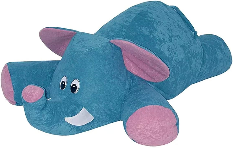 Bean Bag Lounger. Adorable Cuddly Soft Elephant Shape Polyester Bean Bag Lounger