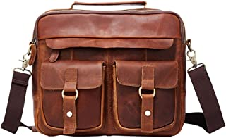 Men's Accessories New Men's Business Messenger Bag Satchel Shoulder Crossbody Sling Working Bag Briefcase Tote Bag for iPad Mini Phone Power Bank Outdoor Recreation (Color : Coffee Color)