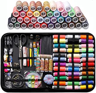 Sewing Kit, 200 Pcs Premium Sewing Supplies Anti-Scratch Durable 600D Oxford Fabric Sewing KitsSuitable for Traveller, Adu...