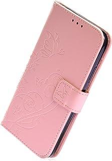 Herbests Kompatibel med Huawei P20 Pro mobilfodral läderfodral bokfodral retro fjäril blommor mönster läderfodral mobiltel...