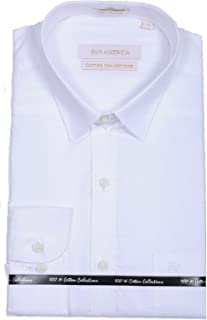 PAN AMERICA Men's Formal White Shirt in Slimfit