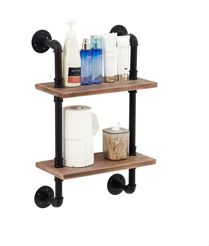 ROGMARS National products Industrial Pipe Floating Bathroom Shelves Rustic Wood La Charlotte Mall