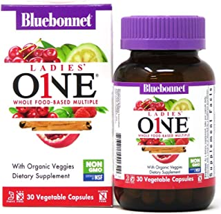 Bluebonnet Nutrition Ladies One Whole Food-Based Multiple Multivitamin & Multimineral Daily Women's Health & Immune Suppor...
