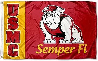US Marines Bulldog USMC University Large College Flag