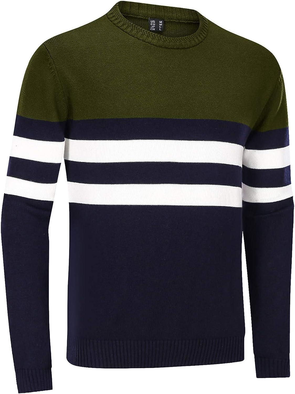 TACVASEN Men's Sweater Crewneck Warm Cotton Classic Pullover low-pricing OFFicial shop Str