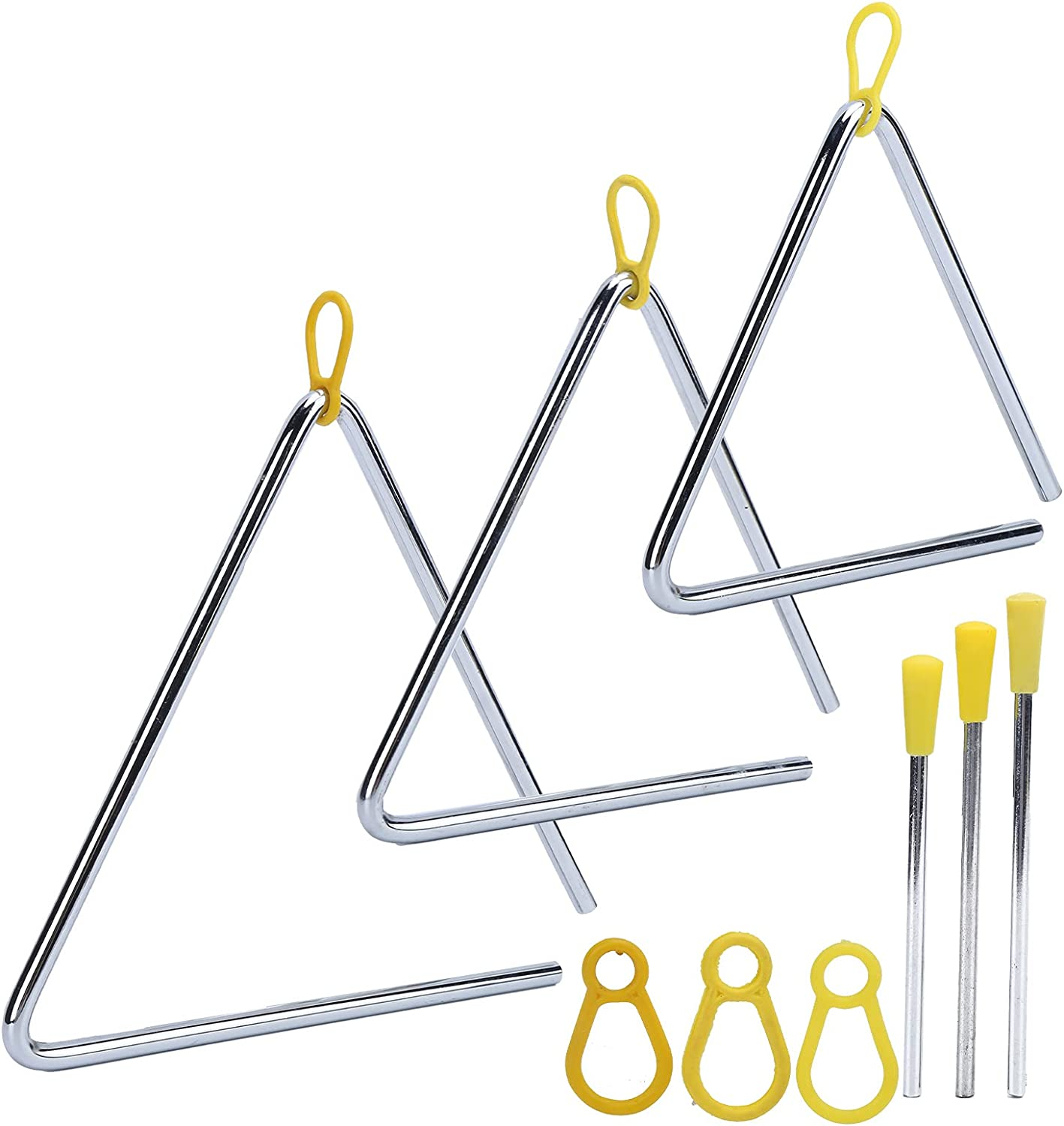 Moh Hand Percussion Triangle Music 3Pcs We OFFer at cheap excellence prices
