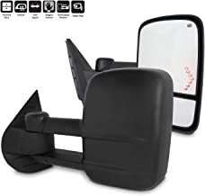 For 2007-2013 Chevy Silverado GMC Serria Towing Mirror With Power Fold | Heated|Turn Signal | Lamp - Black