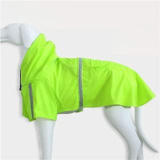 Bigfan Waterproof Dog Raincoat with Hood Reflective Pet Rain Coat Cloak Clothes Small Medium Large Dogs Pet Supplies