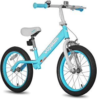 """JOYSTAR 16"""" Balance Bike for Big Kids 5, 6, 7, 8 and 9 Years Old with Rubber Tire and Adjustable seat and Front handbrake, Blue, Pink, Beige, Black"""