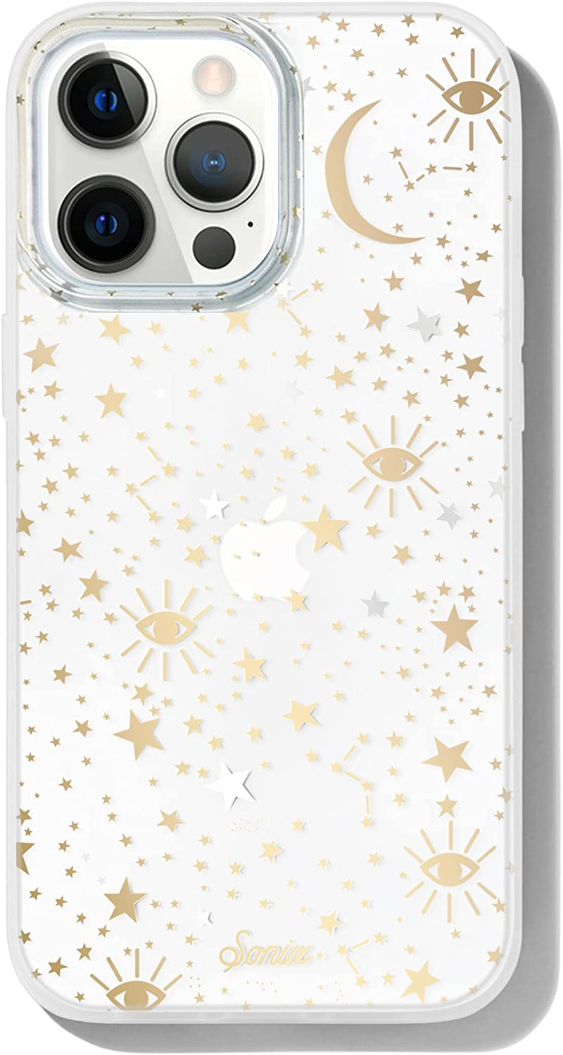 Sonix Cosmic Stars Case for iPhone 13 Pro Max [10ft Drop Tested] Protective Gold Silver Star Clear Cover for Apple iPhone 13Pro Max
