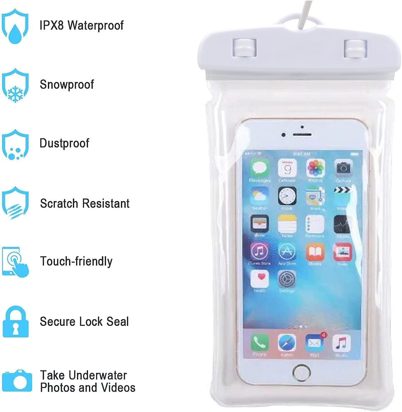Universal Waterproof Case,Waterproof Phone Pouch Compatible for iPhone 12 Pro 11 Pro Max XS Max XR X 8 7 Samsung Galaxy s10/s9 Google Pixel 2 HTC Up to 7.0