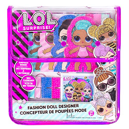 L.O.L. Surprise! Fashion Dolls Designer by Horizon Group USA, Dress Up 4 Paper Dolls with Trendy Accessories, 100+ Fashionable Styles & More. Reusable Tote Bag Included