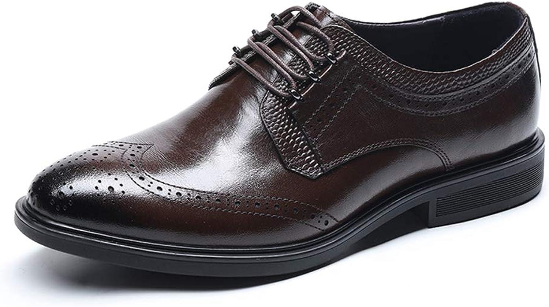 BODOGY-PX Herren Business Schuhe Bullock Herrenschuhe Geschnitzt Herren Retro Schuhe Frühling Und Sommer Hochzeit Schnürhalbschuhe Herrenschuhe Braun