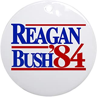 CafePress Reagan Bush 1984 Ornament (Round) Round Holiday Christmas Ornament