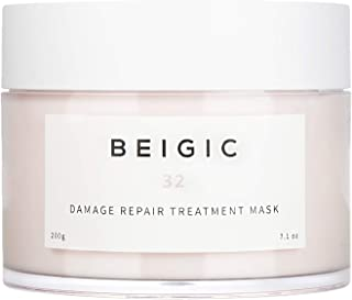 BEIGIC Damage Repair Treatment Mask – A Sulfate free, Deep Nourishing Hair Pack Conditioner Made with Argan Oil for Repairing Dry, Frizzy and Damaged Hair. Vegan & Cruelty free – 7.1 oz