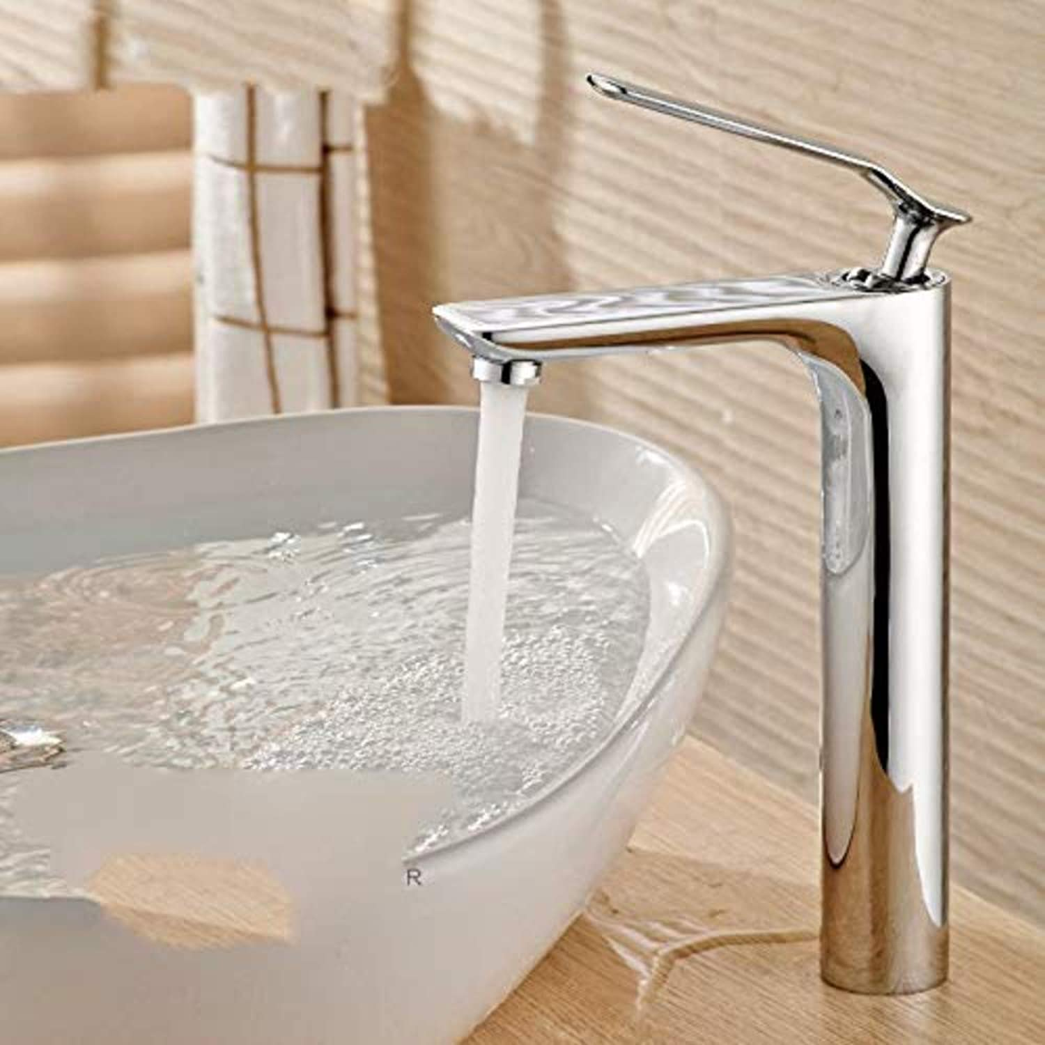 Chrome-Plated Brass Faucet Basin Bathroom Copper Faucet Single Hole Basin Faucet Hot and Cold Basin Faucet redating Faucet
