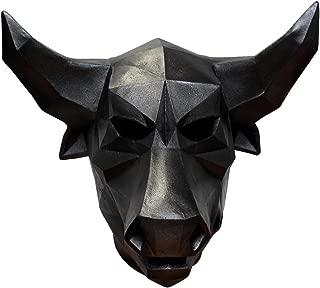 Mask Head Low Poly Art Bull