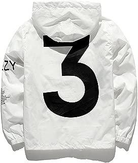 Bifast HOTUEEN Men's Waterproof Front-Zip Lightweight Hoodie Hiking Outdoor Raincoat Jacket with Pocket S-XL