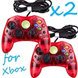 2 LOT NEW RED Controller Control Pad for Original Microsoft XBOX X System