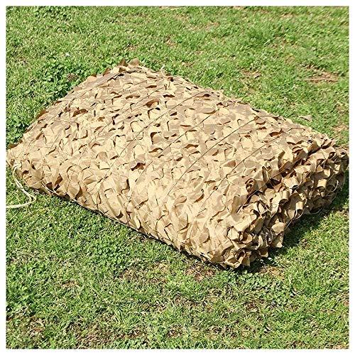 Outdoor Bundeswehr Tarn Wüsten-Tarnung Net, Oxford Cloth Tarnnetz, verwendet for Luft Tarnung, Cs Dekoration, Sonnenschutz, Thema Verschönerungs, Militärisches Trainingslager (Size : 6m×6m)