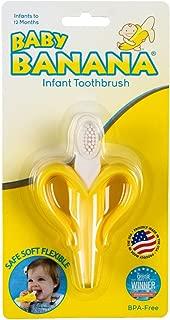 Baby Banana Infant Teething Toothbrush - Banana Teether & Training Toothbrush - Yellow