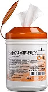 PDI Healthcare P54072 SANI-Cloth Bleach Germicidal Disposable Wipe, Large, 6