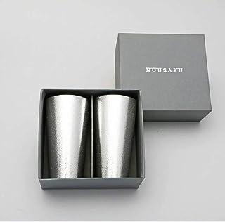 【能作 和紙でラッピング】ビアカップ 200㏄ 2個セット 本錫100% NOUSAKU