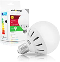 WHITENERGY® 12 Watt 1100 Lumens LED Globe Light Bulb E27 Edison Screw, 80W Equivalent, Beautiful Warm White Colour, 160 ? ...