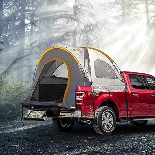 Kariyee Truck Tent Waterproof Double Layer Camping Tent | Full Size Short Bed 5.5'-5.8' Grey