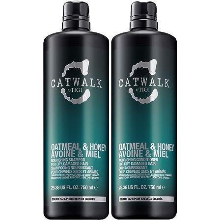 TIGI Catwalk Oatmeal & Honey Shampoo & Conditioner per Capelli Secchi E Danneggiati - 2 x 750 ml