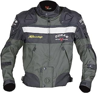 DUHAN(ドゥーハン) バイクジャケット プロテクター付 ライディングジャケット L モスグリーンオールシーズン 春夏秋冬用 905405