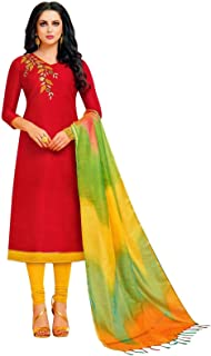 Plain Silk Handwork Salwar Kameez with Banarasi Silk Dupatta Indian Pakisatni Dress