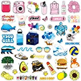 ANERZA VSCO Stickers for Hydro Flask, VSCO Girl Stuff, Waterproof Water Bottle Stickers for Hydroflasks, Laptop, Phone, Cute Trendy Aesthetic Vinyl Stickers for Teens, Girls(45pcs Multi Color)