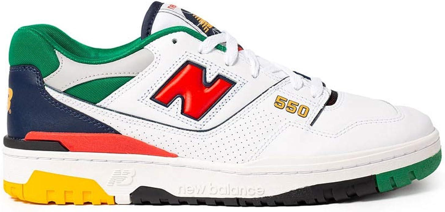 New Balance - Sneakers Uomo 550 White Multicolor - Numero 41.5 ...