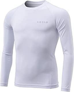 TSLA Boy's Long Sleeve T-Shirt Baselayer Cool Dry Compression Top