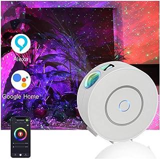 نور پروژکتور گلکسی با ابر سحابی ، پروژکتور نور شبانه WiFi Star Sky ، مناسب برای اتاق بازی ، سینمای خانگی یا اتاق کودک ، سازگار با الکسا