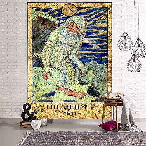 KHKJ Tapices Colgantes de Tarot Sun Star Moon Tapiz Hippie Manta Colgante de Pared Alfombra de Pared Estera de Yoga Decoración del hogar A2 200x150cm