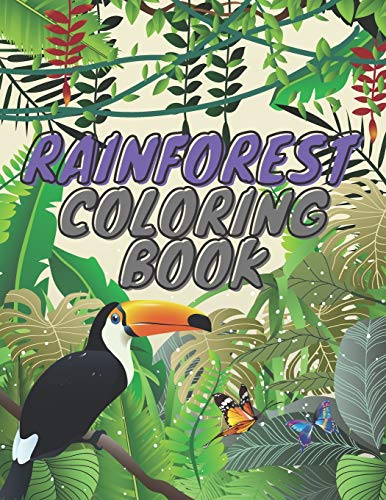 Rainforest Coloring Book: Birds and Animals Lover Gift Ideas for Kids and Adults ⭐