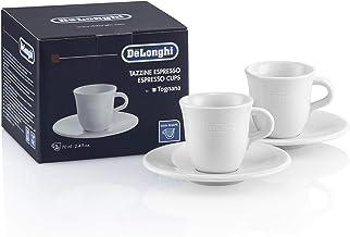 ديلونجي DLSC308 طقم فناجين قهوة وسُحن اسبرسو بورسلين – 2 قطعة