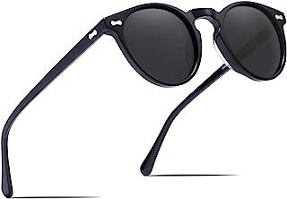 Retro Gafas de sol Hombre Polarizadas UV400 Protección para Conducir Pesca al Aire Libre Marco de Acetato