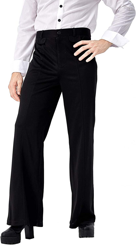 Sale Wholesale price Ya-cos Men's Disco Pant Retro Bell Trousers Bot 70's Pants